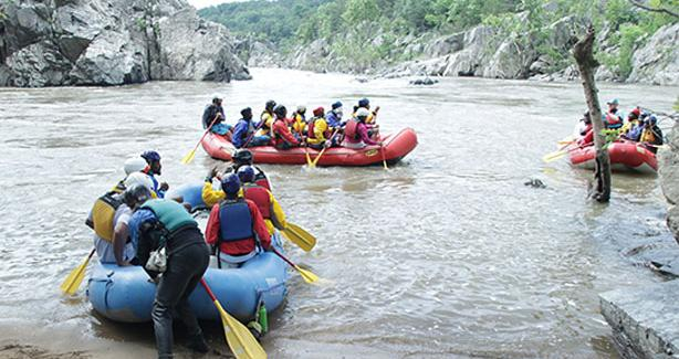 Photo of kids on a rafting trip